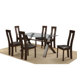 Drennan Dining Set With 6 Chairs By Mercury Row