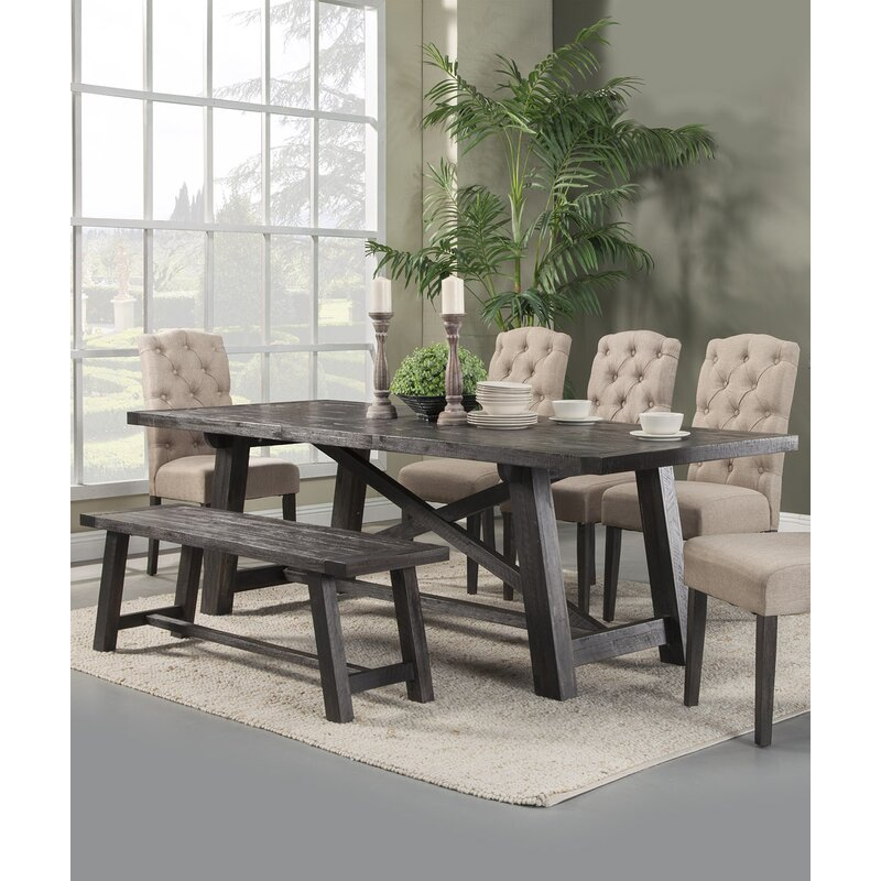 Laurel Foundry Modern Farmhouse Colborne 6 Piece Solid Wood Dining