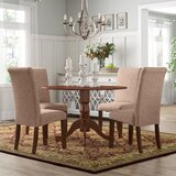 Parise Small Table 5 Piece Drop Leaf Solid Wood Breakfast Nook Dining Set by Charlton Home®