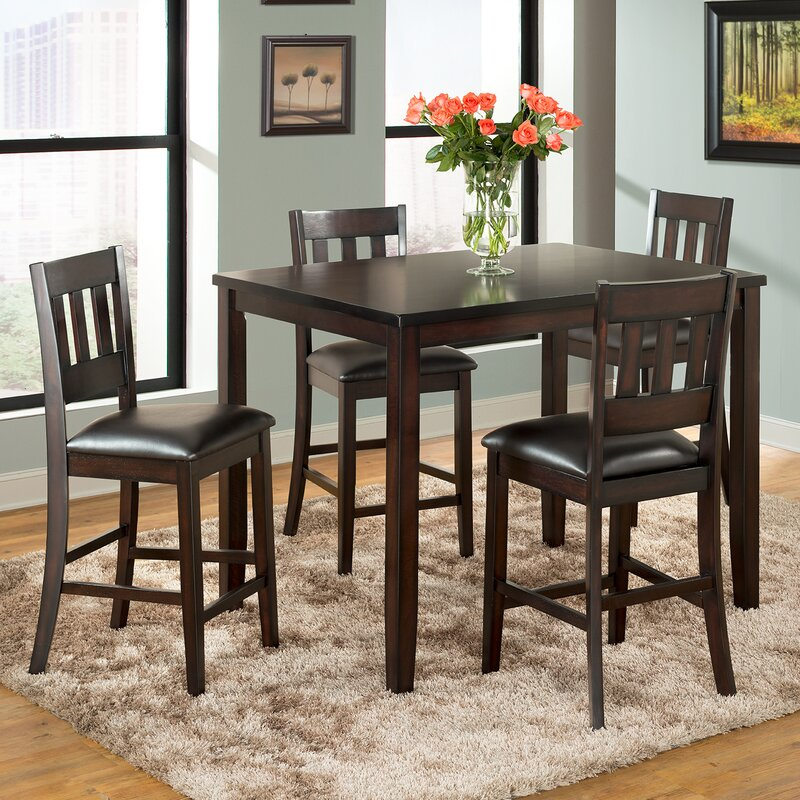 Vilohomeinc Americano 5 Piece Pub Table Set Reviews Wayfair