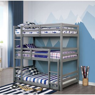 Price comparison Middletown Twin Triple Bunk Bed by Harriet Bee Reviews (2019) & Buyer's Guide