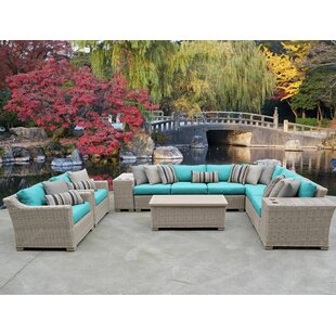 Coast 11 Piece Sectional Seating Group With Cushions by TK Classics Design
