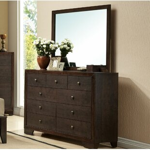 Canora Grey Mcnally 9 Drawer Dresser with Mi..