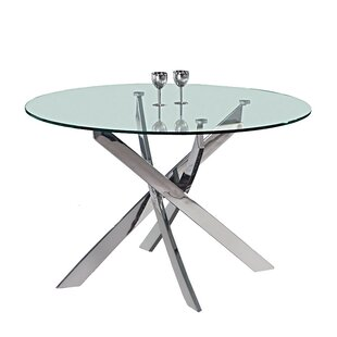 Shirlene Round Dining Table Everly Quinn