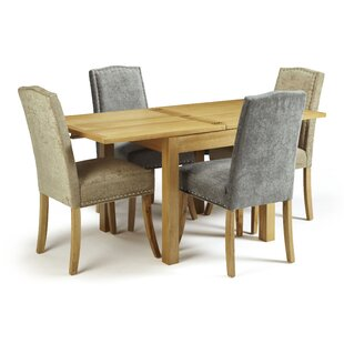 Review Connelly Extendable Dining Set With 4 Chairs