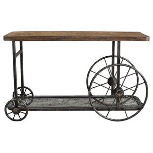 Loon Peak Hessler Wheel Console Table