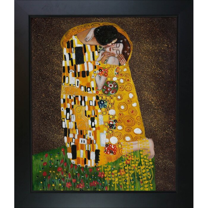 Tori Home The Kiss by Gustav Klimt Framed Painting & Reviews ...