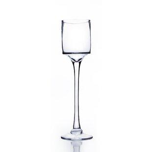 Raised Cylinder Candle Holder Glass Vase