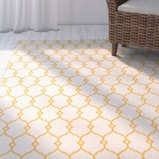 Halliday Yellow/Beige Indoor/Outdoor Area Rug