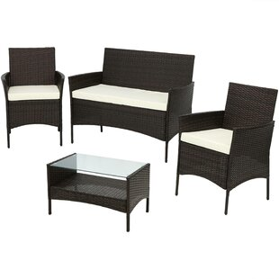 Doctor 4 Piece Rattan Sofa Seating Group