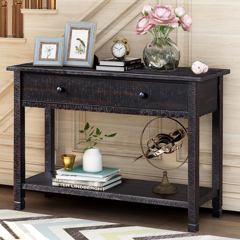 Gracie Oaks Elington 42 Solid Wood Console Table Reviews Wayfair