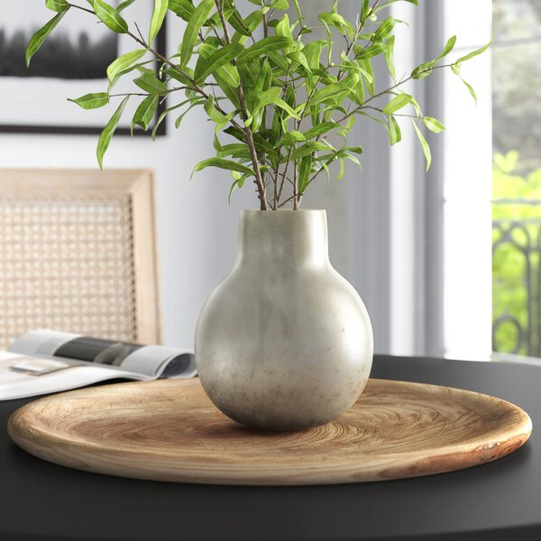 Talapoosa White Iridescent Glass Table Vase Reviews Joss Main
