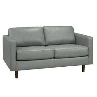 Lassen Genuine Leather Loveseat by Brayden Studio No Copoun
