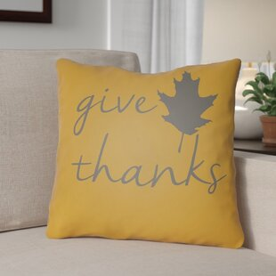 Thanksgiving Indoor/Outdoor Throw Pillow