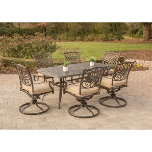 Carleton 7 Piece Dining Set with Cushion