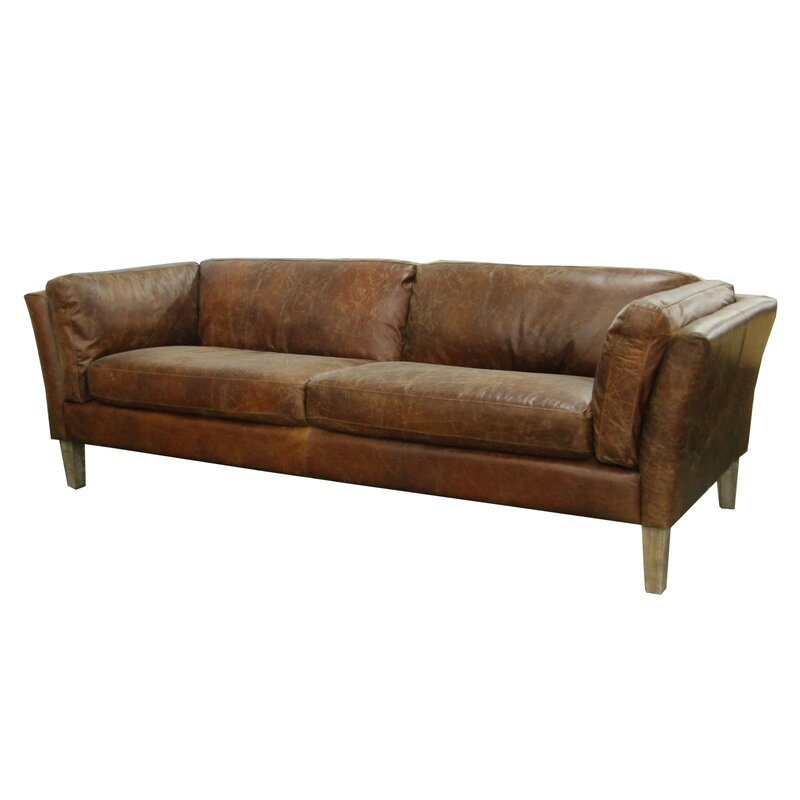 Foundry Select Carlsen Leather Sofa