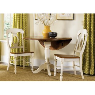 Perna 3 Piece Drop Leaf Dining Set by August Grove