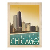 'Chicago Skyline' by Joel Anderson Graphic Art on Wood