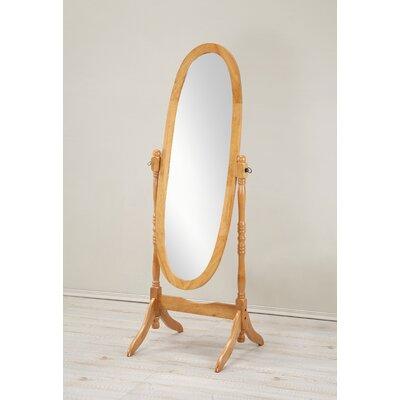 Alcott Hill Constantia Traditional Floor Cheval Mirror Finish: Oak