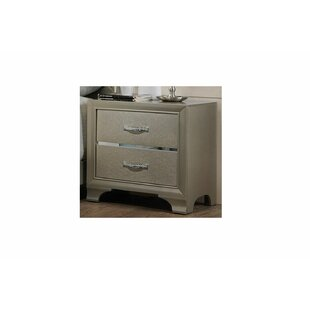 Zed 2 Drawer Nightstand by House of Hampton