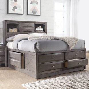 Keena Wood Storage Panel Bed
