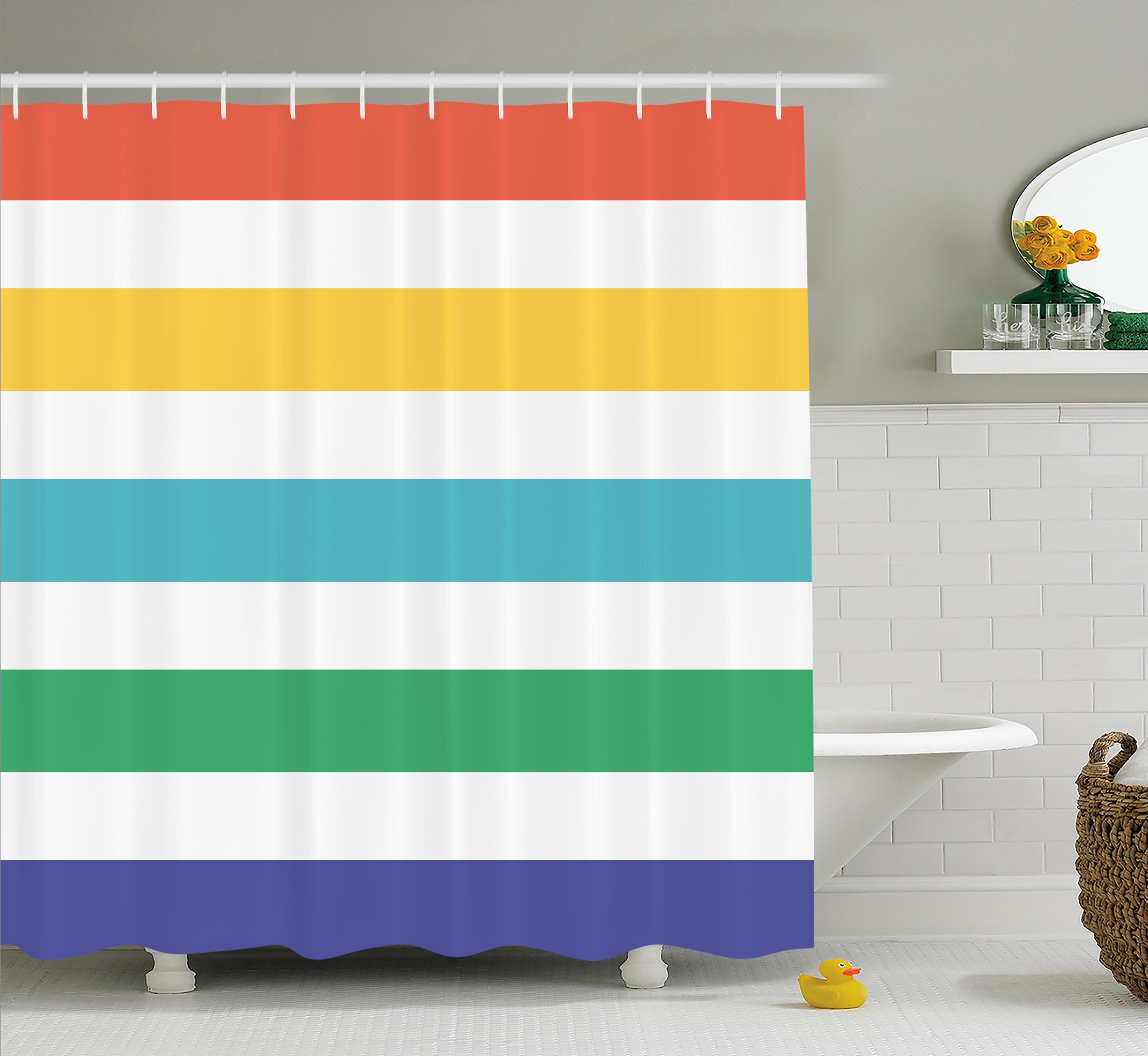 Rosecliff Heights Valoria Rainbow Kids Pattern Shower Curtain