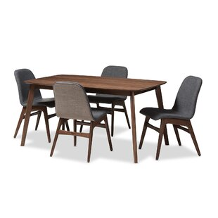 Cropper Mid-Century 5 Piece Dining Set George Oliver