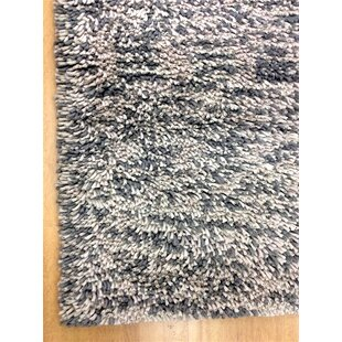 Shag Eyeball Woolen Hand Knotted Gray/White Mix Area Rug
