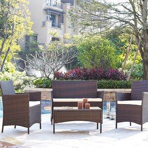 4-Sitzer Loungemöbel-Set Alfred von Home & Haus