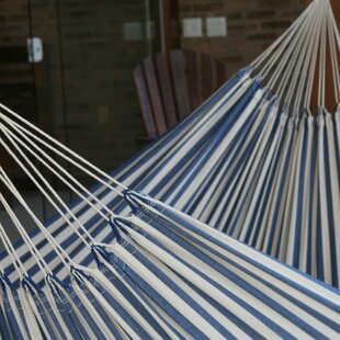 Fair Trade Single-Person Striped Hand Woven Brazilian Cotton Tree Hammock by Novica