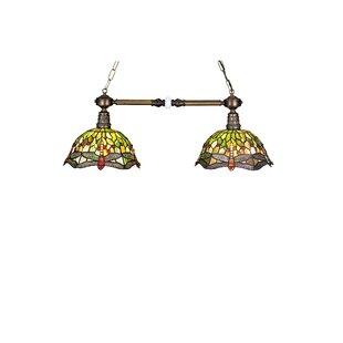 Meyda Tiffany Tiffany Hanginghead Dragonfly 2-Light Island Pendant