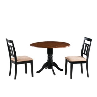 Adriano 3 Piece Drop Leaf Solid Wood Dining Set August Grove