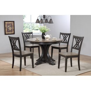 Alisha 5 Piece Solid Wood Dining Set Alcott Hill