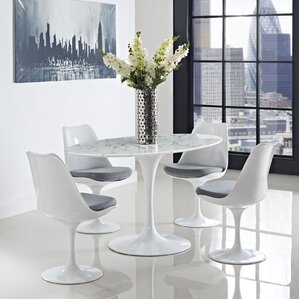 Oval-Shaped Dining Table by Modway