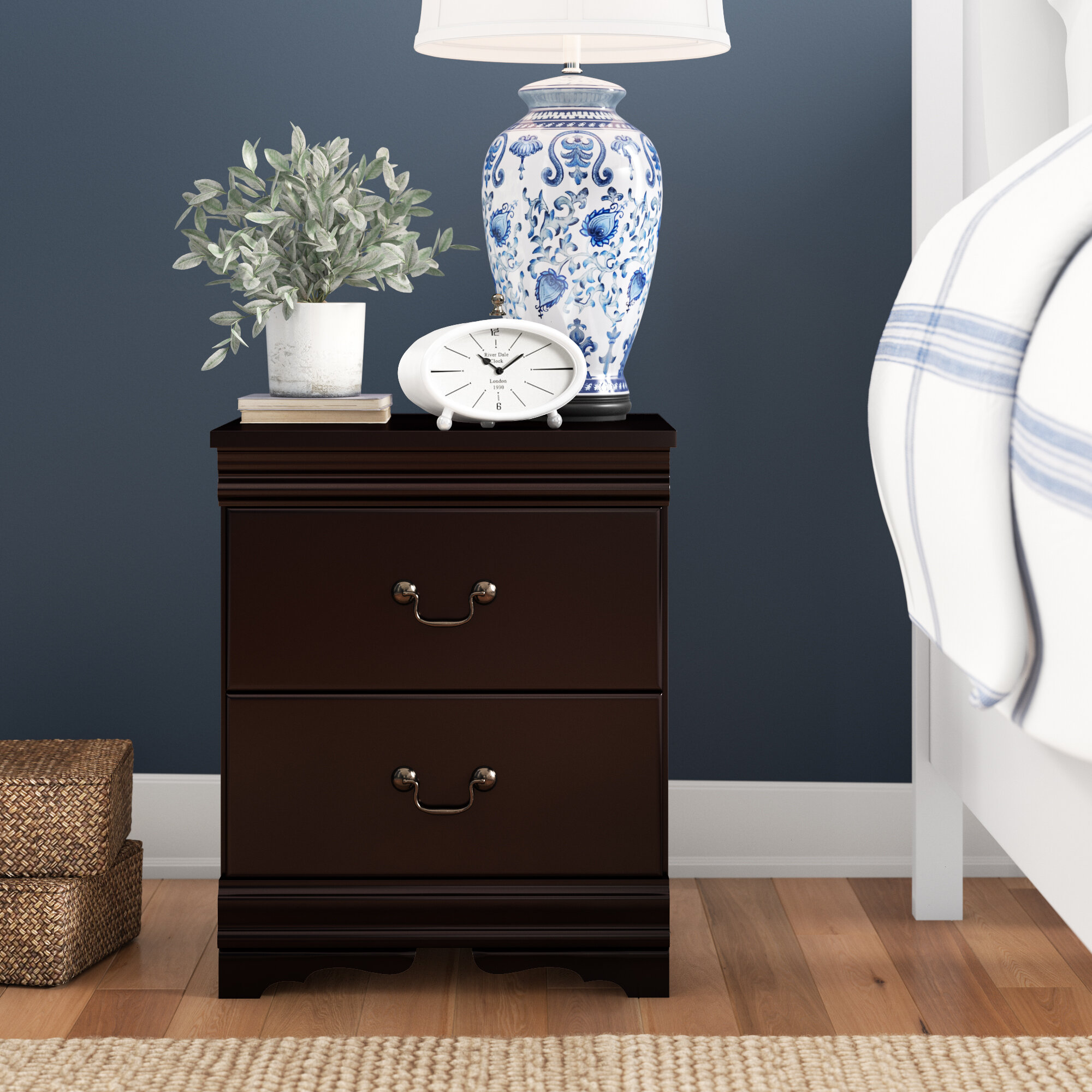 Carpenter 2 Drawer Nightstand