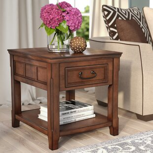 Compare prices Mathis End Table With Storage By Darby Home Co