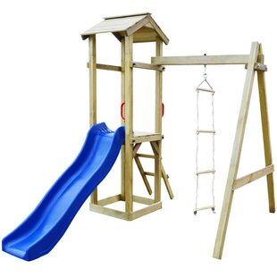 Playhouse With Slide Ladders Swing Set By Freeport Park