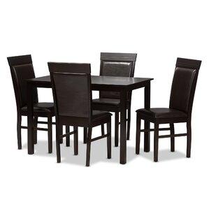 Kisor Modern And 5 Piece Breakfast Nook Dining Set