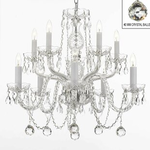 House of Hampton Keitt 10-Light Candle Style Chandelier