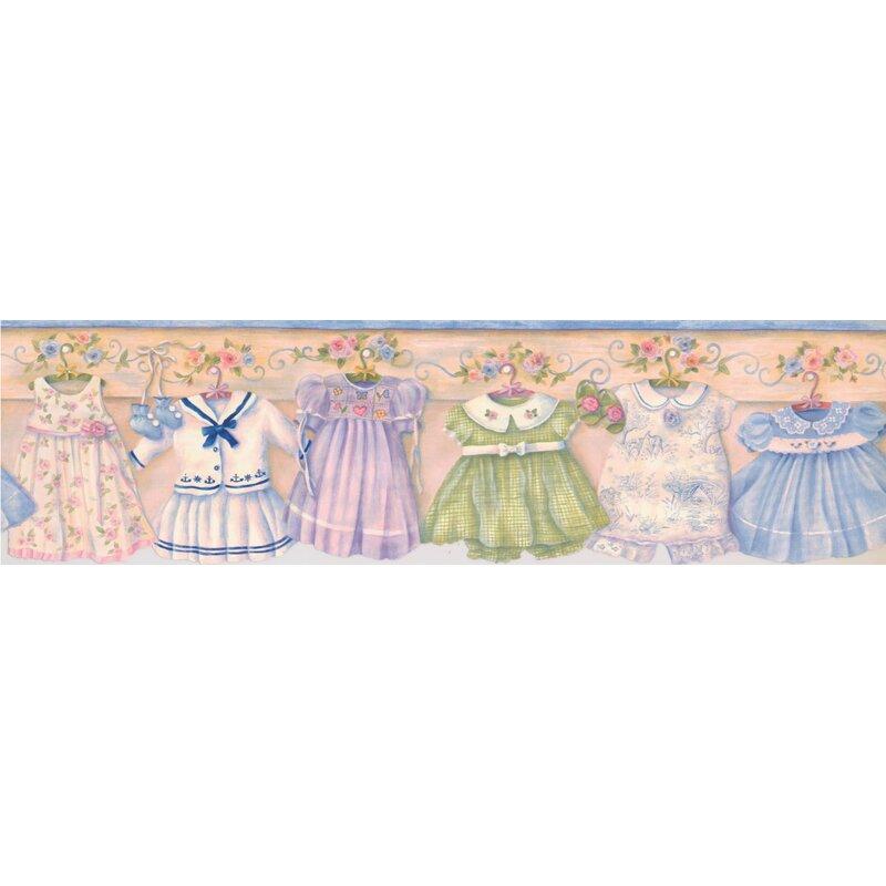 Zoomie Kids Angarano Baby Dresses On Hangers On Wall Vintage Wall Border Wayfair Ca