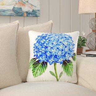 Ansley Hydrangea Indoor/Outdoor Throw Pillow