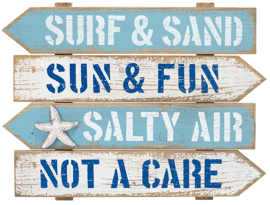 Attractive Surf And Sand Arrow Beach Wall Décor