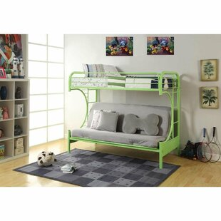 Zoomie Kids Kelm Metal Tube Twin Futon Bunk Bed