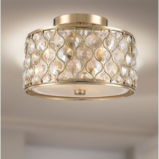 Rosdorf Park Adonis Crystal 3-Light Semi Flush Mount