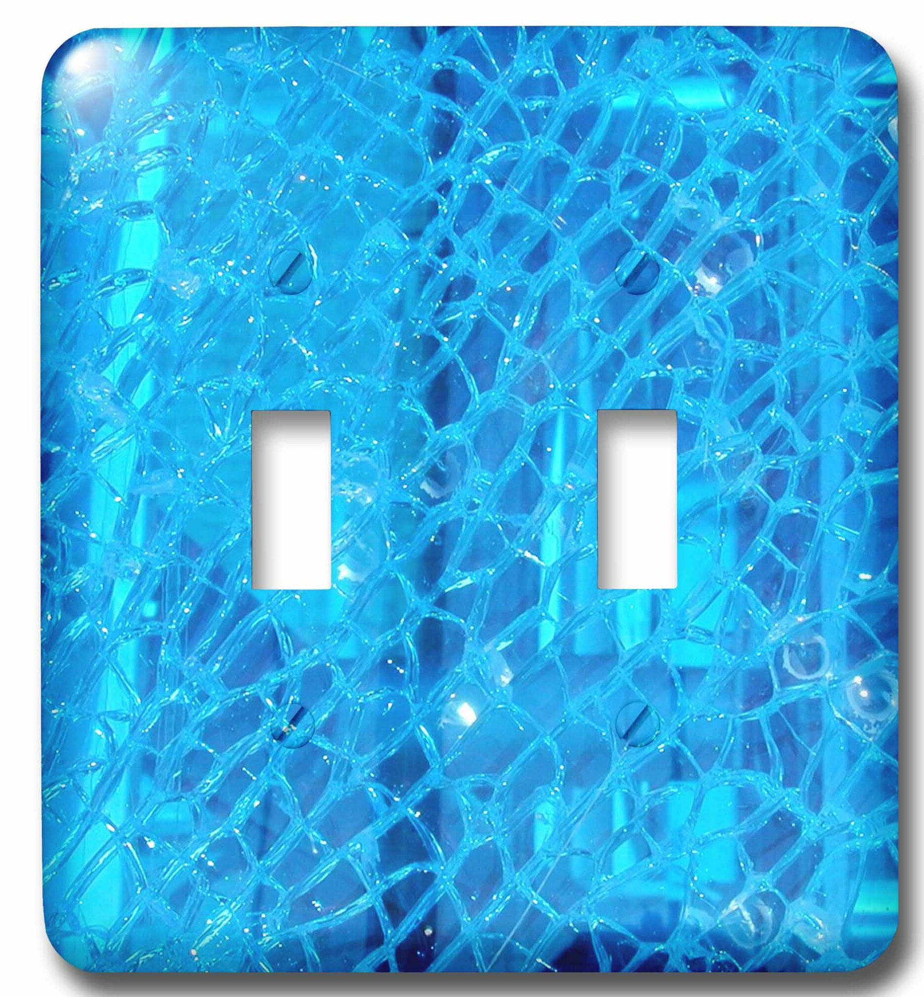3drose Cracked Glass 2 Gang Toggle Light Switch Wall Plate Wayfair