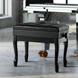 Winston Porter Cirebon Height Adjustable Upholstered Storage Piano Bench