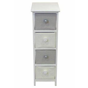 Best Brinckerhoff Roomy Wooden 4 Drawer Storage Chest ByHarriet Bee