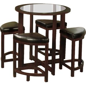 Plumwood 5 Piece Counter Height Dining Set by Red Barrel Studio
