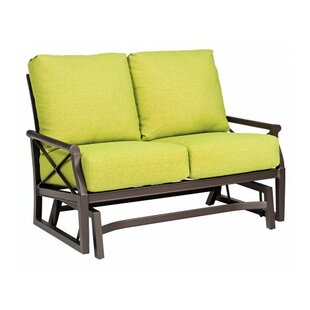 Andover Gliding Loveseat with Cushions by Woodard