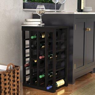 Red Barrel Studio Karnes Pine 24 Bottle Floor Wine Rack